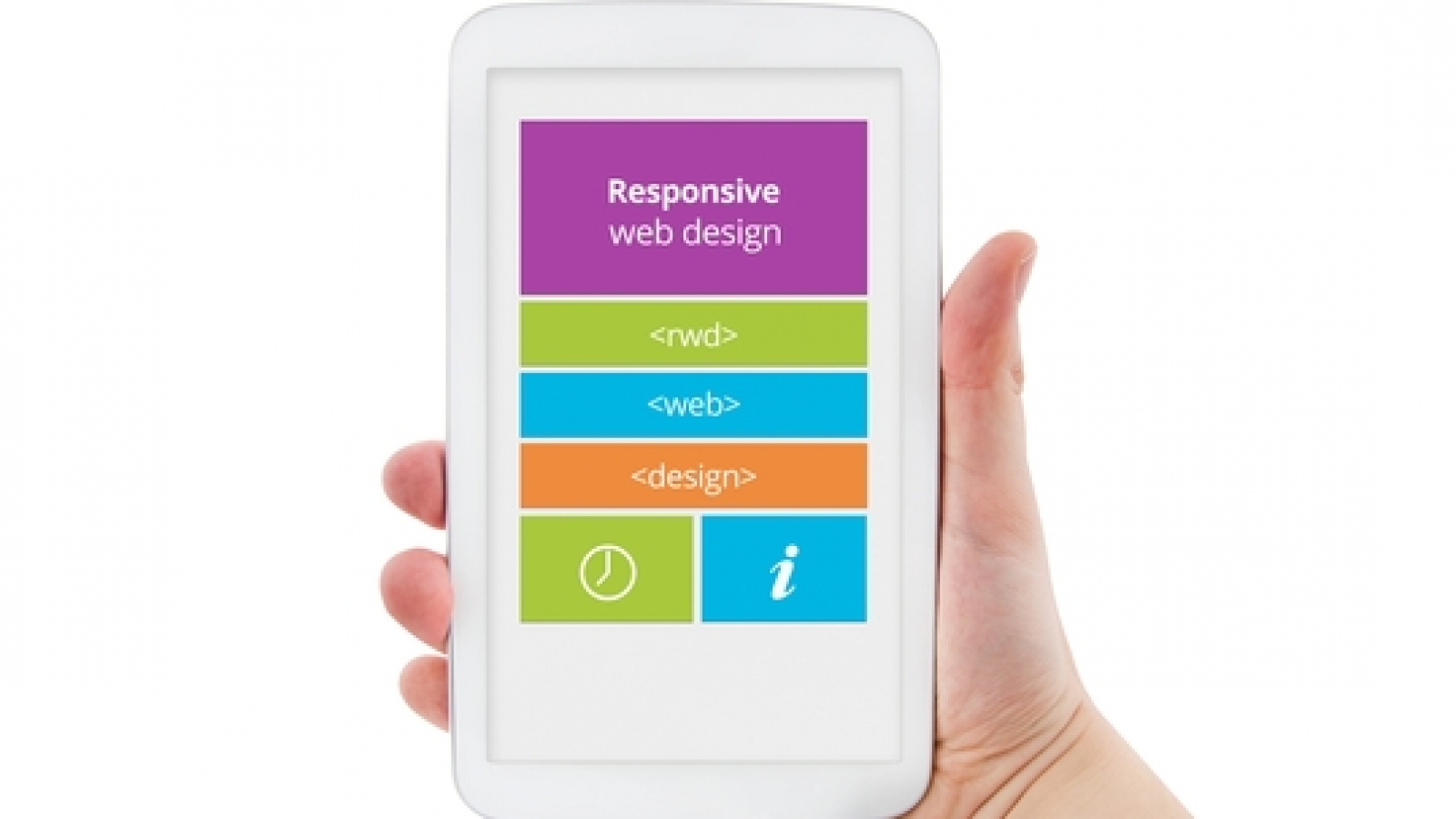 Responsive web design on mobile tablet pc device