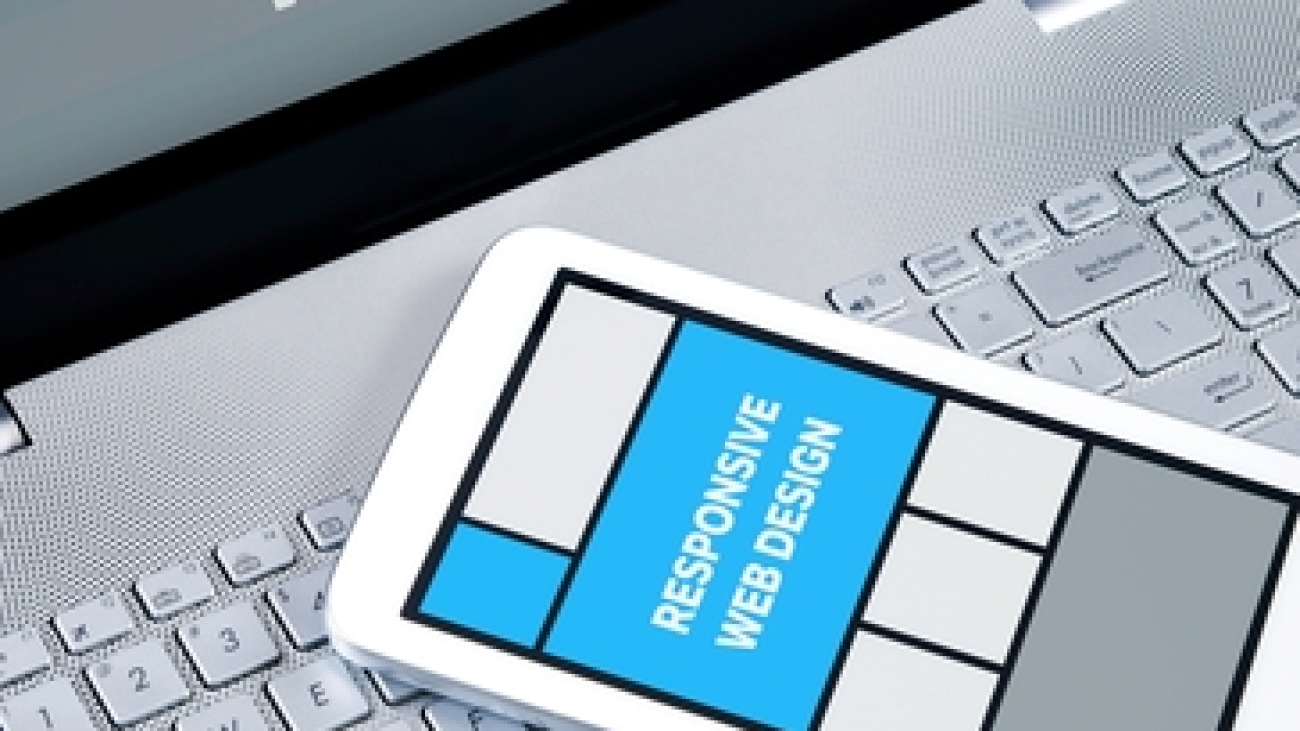 Responsive web design on mobile devices laptop and tablet pc