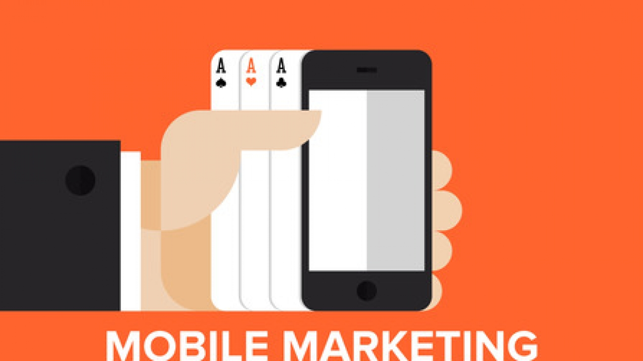 Mobile marketing strategy flat concept