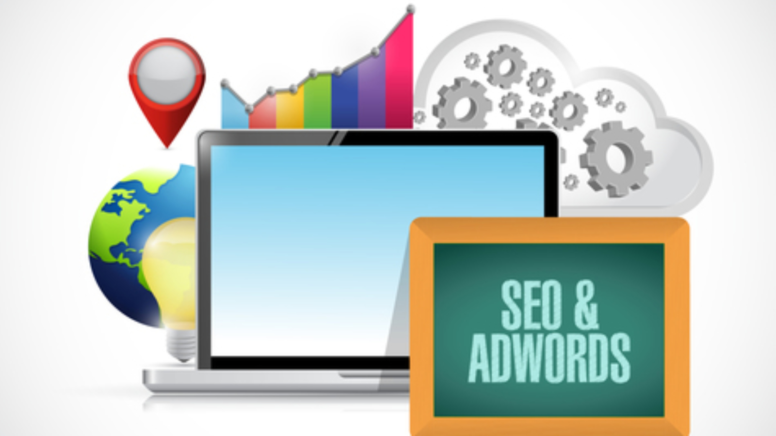 seo and adwords data computer